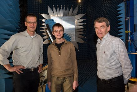 Prof Dirk Heberling, Dr Adam Narbudowicz and Prof Max Ammann at RTWH Aachen